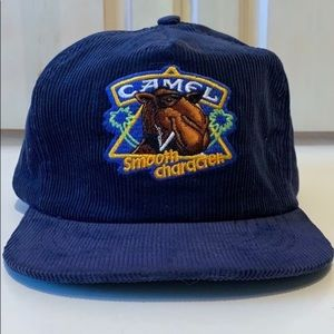 Joe Camel • Vintage Corduroy Embroidered Cap • NEW
